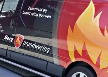 Autobestickering Borg Brandwering
