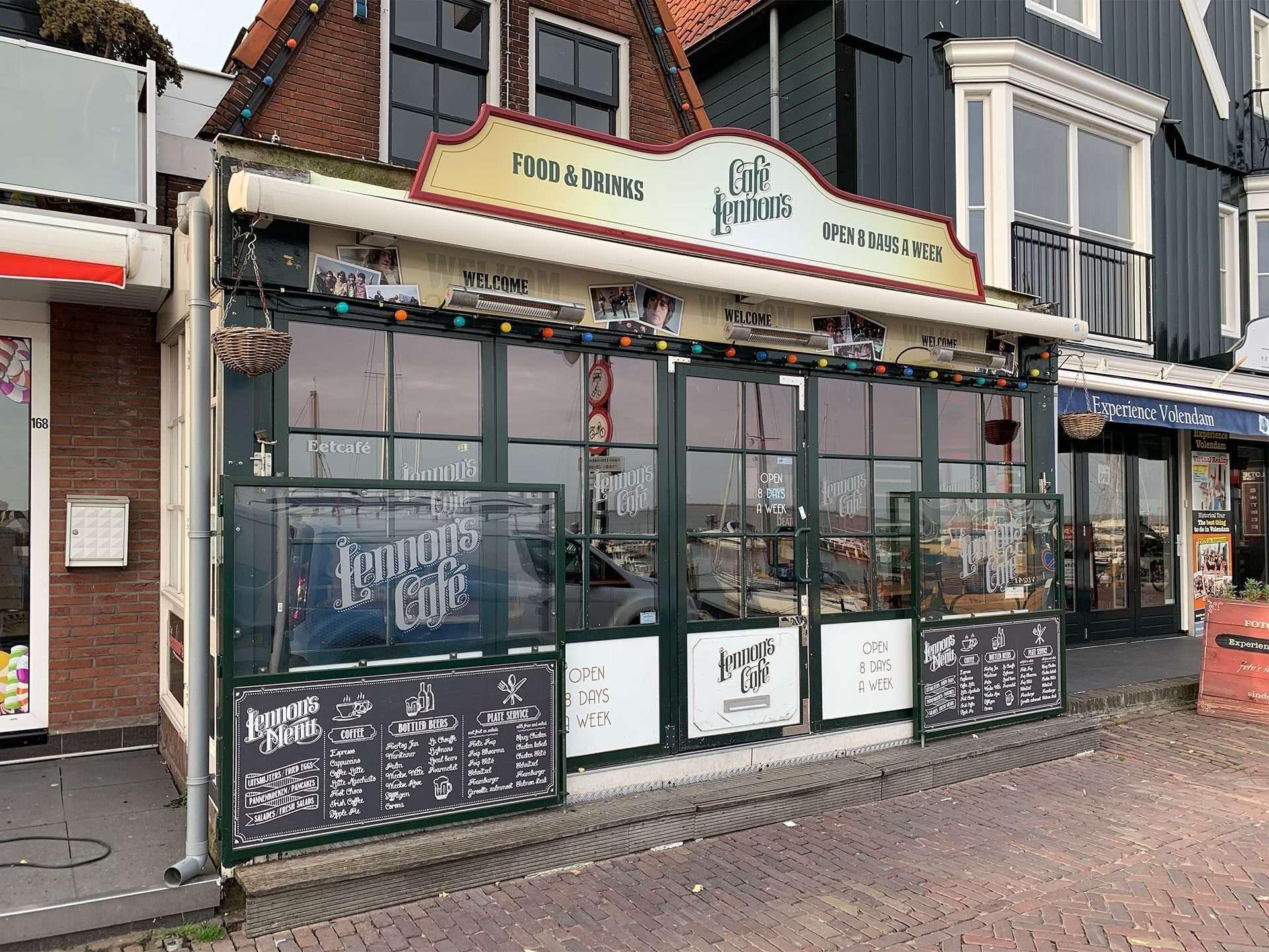 Gevelbord Café Lennons