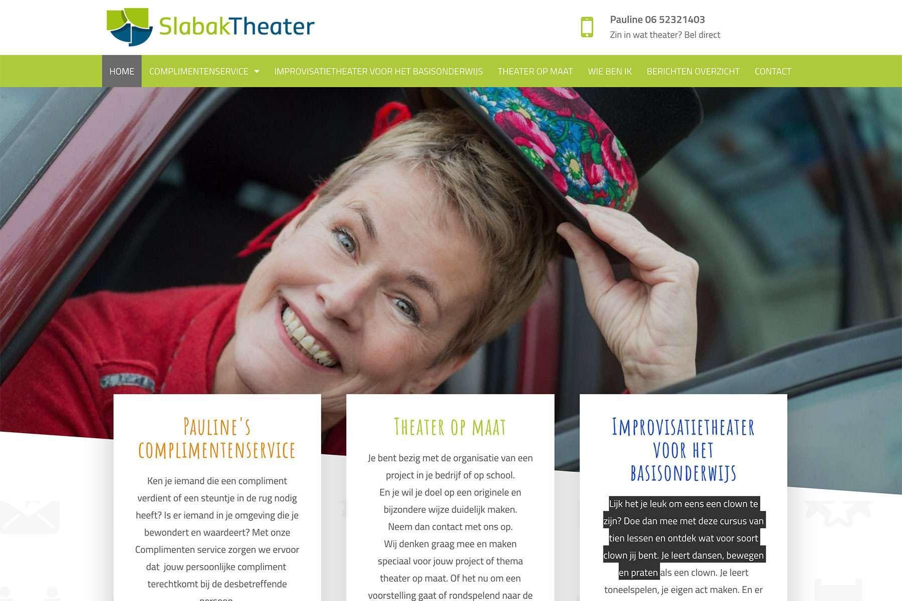 Ontwerp Website SlabakTheater